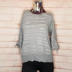 Worthington Gray Wavy Sweater